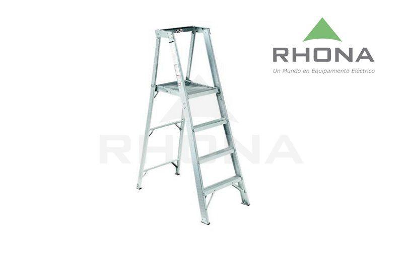 Escalera tijera aluminio rhona un mundo en equipamiento for Precios de escaleras de tijera de aluminio