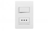Interruptor + Toma corriente armado